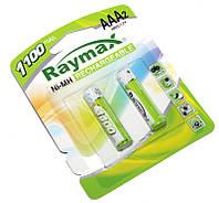 Перезаряжаемая батарейка (аккумулятор) AAA, 1100 mAh, Raymax, 2 шт, 1.2V, Blister