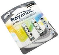 Перезаряжаемая батарейка (аккумулятор) AAA, 400 mAh, Raymax, 2 шт, 1.2V, Blister