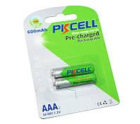 Перезаряжаемая батарейка (аккумулятор) AAA, 600 mAh, PKCELL, 2 шт, 1.2V, Pre-charged, Blister (546135)