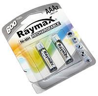 Перезаряжаемая батарейка (аккумулятор) AAA, 600 mAh, Raymax, 2 шт, 1.2V, Blister