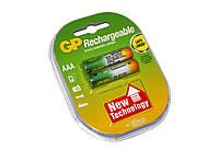Перезаряжаемая батарейка (аккумулятор) AAA, 850 mAh, GP, 2 шт, 1.2V, Blister (GP85AAAHC-2UEC2)