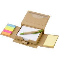 Набор канцелярский Эко (бумага для заметок 160 листов, закладки 5х25), с карманом для визиток, линейка, ручка