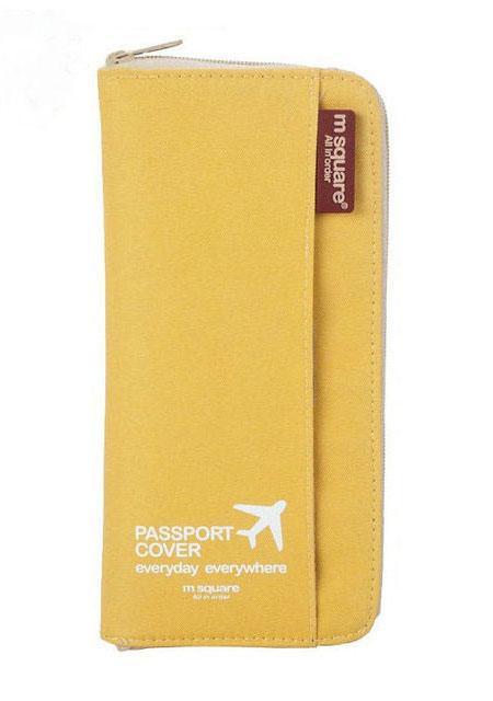 Кардхолдер для путешествий цвет желтый