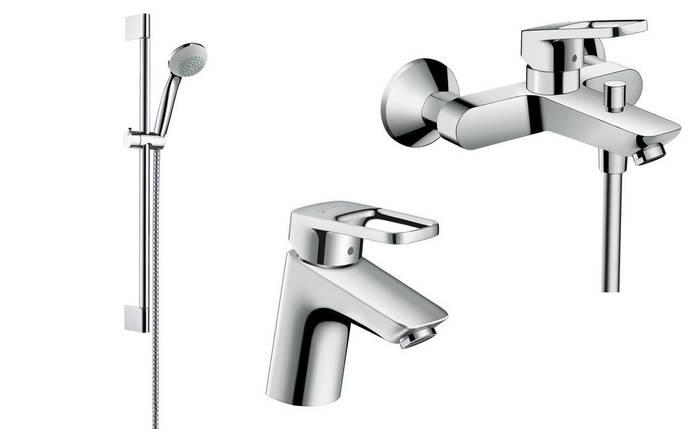 Hansgrohe Logis Loop Набор смесителей для ванны ,умывальник 70 (71150000+71244000+27728000), фото 2