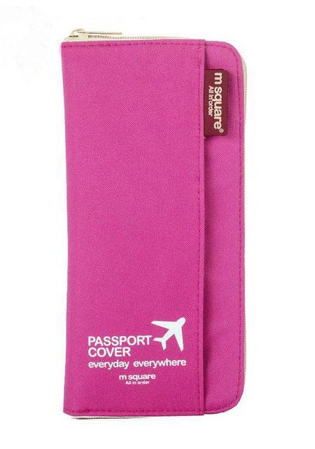 Кардхолдер для путешествий цвет розовый