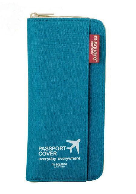 Кардхолдер для путешествий цвет синий