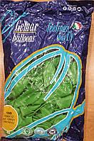 Шарики надувные Италия 26см зеленые 100шт/уп