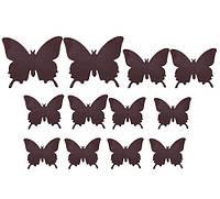 Бабочки для декора коричневые.