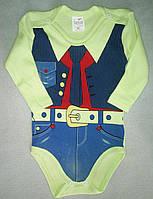 Боди для новорожденных с длинным рукавом 3-18 мес