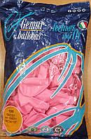 Шарики надувные Италия 26см розовые 100шт/уп