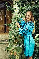 Платье бохо СЖ 0707 Жіноча сукня Сукня з вишивкою Вишита сукня Коктельное платье