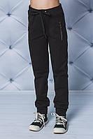 Детские спортивные штаны на манжете черные