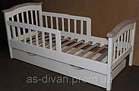 Кровать для детей деревянная с бортиком