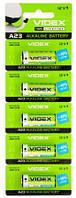 Батарейка A23 (MN21), щелочная, Videx Excellent!, 5 шт, 12V, Blister (А23/Е23А 5pcs BLISTER CARD)