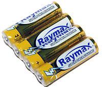 Батарейка AA (LR6), щелочная, Raymax, 4 шт, 1.5V, Shrink