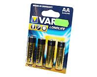 Батарейка AA (LR6), щелочная, Varta LongLife, 4 шт, 1.5V, Blister (04106101414)
