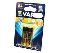 Батарейка AA (LR6), щелочная, Varta LongLife, 2 шт, 1.5V, Blister (04106101412)
