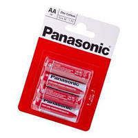 Батарейка AA (R6), солевая, Panasonic Red Zink, 4 шт, 1.5V, Blister (R6REL/4BPR)