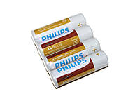Батарейка AA (R6), солевая, Philips LongLife, 4 шт, 1.5V, Shrink (R6L4F/10)