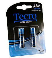 Батарейка AAA (LR03), щелочная, Tecro, 2 шт, 1.5V, Blister (LR03-2B(EE))