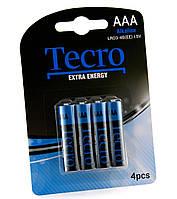 Батарейка AAA (LR03), щелочная, Tecro, 4 шт, 1.5V, Blister (LR03-4B(EE))