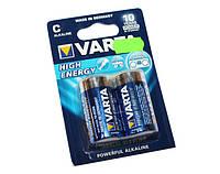 Батарейка C (LR14), щелочная, Varta High Energy, 2 шт, 1.5V, Blister (04914121412)