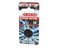 Батарейка CR2025, литиевая, Maxell, 1 шт, 3V, Blister (MXBCR20251)