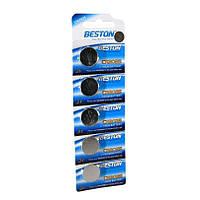 Батарейка CR2025, литиевая, Beston, 5 шт, 3V, Blister (AAB1825)