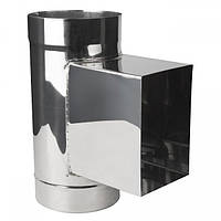 Ревизия кислотостойкая с прямоугольным люком и дверкой  Ø80