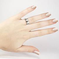Кольцо керамическое с тремя вставками белое Арт. RN012CR (16), фото 5