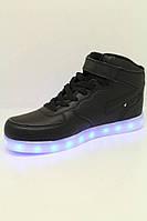 Кроссовки красные LED с зарядкой молодежные 36-41 оптом
