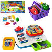 Кассовый аппарат детский 7019-UA, калькулятор, музыка, звук (укр), продукты, монеты, на бат-ке