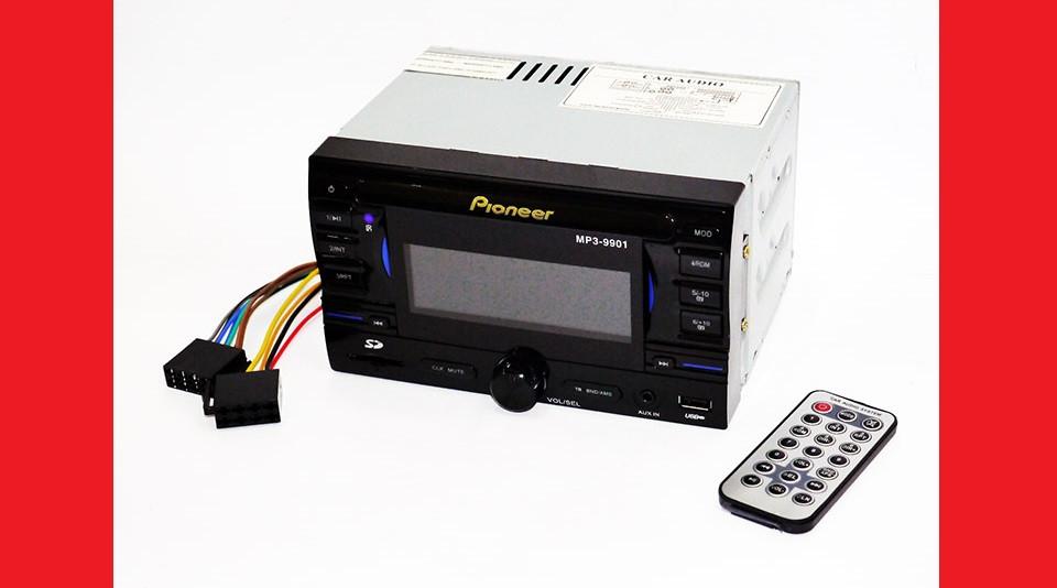 2din Pioneer 9901 USB+SD+AUX+пульт RGB подсветка