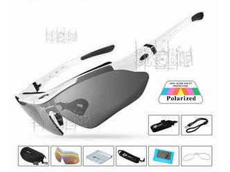Спортивные очки RockBros ORIGINAL Polarized 5 линз Цвет: Белый