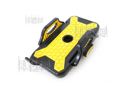 Держатель Letdooo для мобильного на руль Цвет: Черный/Желтый