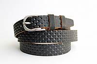 Кожаный женский ремень 25 мм чёрный пряжка серебрянная овальная