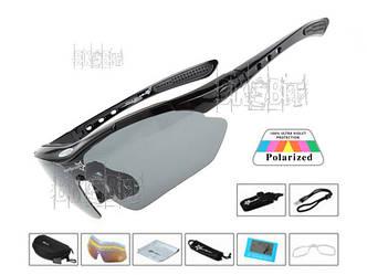 RockBros ORIGINAL Polarized Спортивные очки 5 стекол (линз) Цвет: Черный