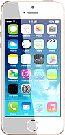 Китайский смартфон iPhone 5S, Android 4.2.2, 1 SIM, GPS, камера 8 Mп, память 8 Гб, 2-х ядерный. Золотистый