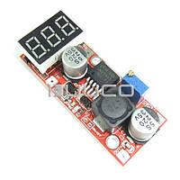 Преобразователь напряжения 4,5-28В в 1.3-25В 15Вт инвертор с вольтметром