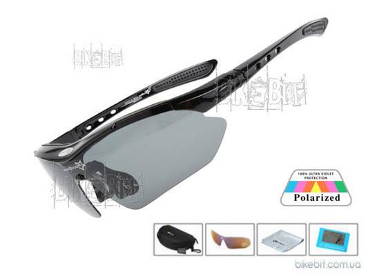 Спортивные очки RockBros ORIGINAL Polarized LIGHT 1 линза Цвет: Черный