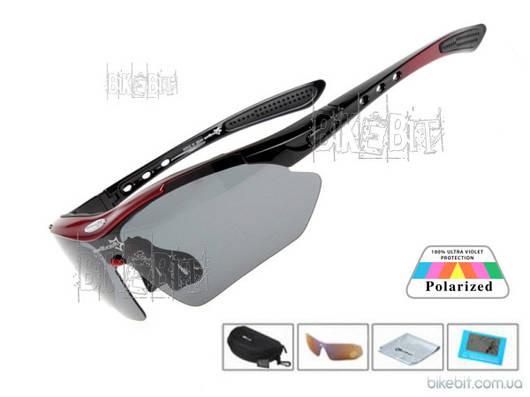 Спортивные очки RockBros ORIGINAL Polarized LIGHT 1 линза Цвет: Красный