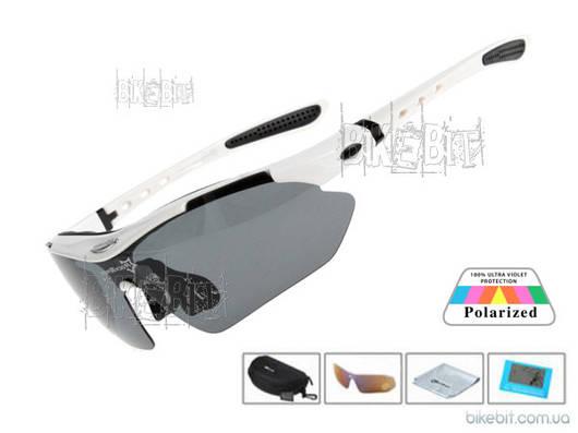 Спортивные очки RockBros ORIGINAL Polarized LIGHT 1 линза Цвет: Белый