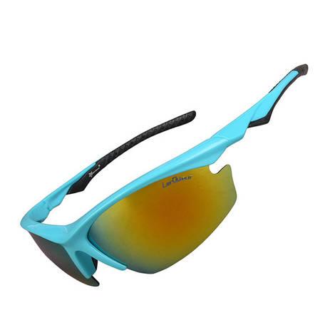 Спортивные очки «RockBros ORIGINAL Polarized» 5 линз Цвет: Голубой