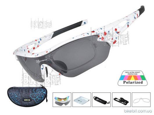 Спортивные очки RockBros ORIGINAL Polarized 3 съемные линзы Цвет: Белый