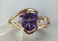 Кольцо с аметистом золотое 585 проба