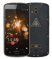 """Ударопрочный смартфон AGM X1 Gold золото IP68 (2SIM) 5,5"""" 4/64GB 5/13+13Мп 3G 4G оригинал Гарантия!"""
