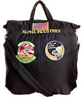 Сумка Alpha Industries Helmet Bag With Patches (черная)
