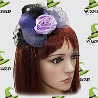 Шляпка маленькая с розой