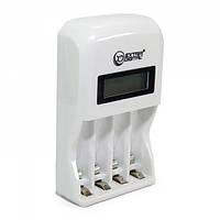Зарядное устройство Extradigital BC180, White, 4 x AA/AAA Ni-Cd/Ni-MH, независимые каналы, LCD экран (AAC2814)