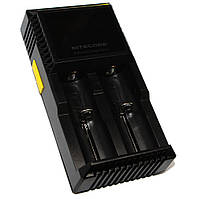 Зарядное устройство Nitecore Digicharger D2, Black, 2xAA/AAA/AAAA/C Ni-MH/Ni-Cd, 18650/26650 Li-Ion, LCD экран, от 220V/12V